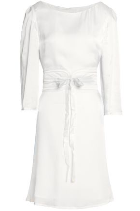 CLAUDIE PIERLOT Rififi belted lace-trimmed seersucker dress