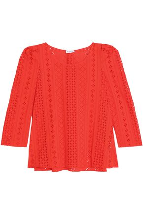 CLAUDIE PIERLOT Broderie anglaise cotton top