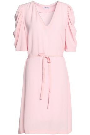 CLAUDIE PIERLOT Belted gathered crepe dress