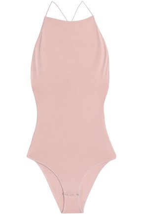 T by ALEXANDER WANG Open-back stretch-modal bodysuit