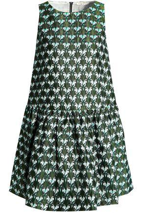 MAJE Embroidered jacquard mini dress