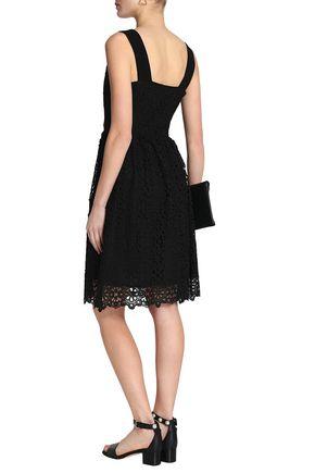 CLAUDIE PIERLOT Pleated giupure lace dress