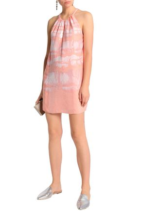 b0c6e3c19656 HALSTON HERITAGE Sequin-embellished printed crepe mini dress