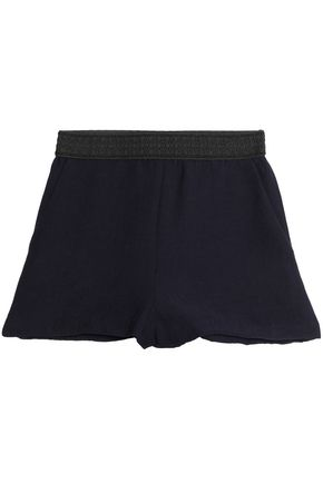 MAJE Ribbed-knit shorts
