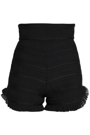 MAJE Pleated woven shorts