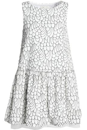 MAJE Printed cloqué mini dress