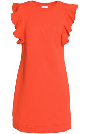 CLAUDIE PIERLOT Ruffle-trimmed cotton-blend mini dress