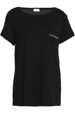 CLAUDIE PIERLOT Embellished stretch-jersey T-shirt