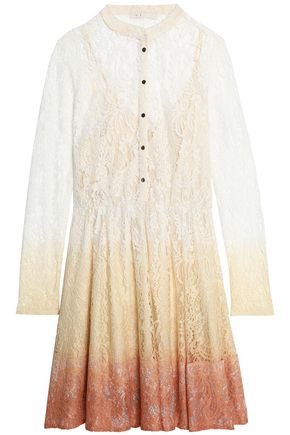 MAJE Dégradé corded lace mini dress