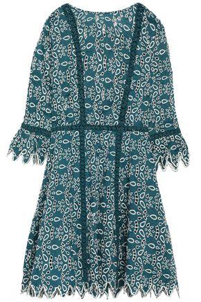 MAJE Broderie anglaise cotton mini dress