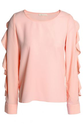 MAJE Ruffled crepe top