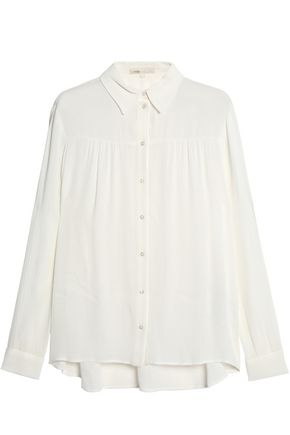 MAJE Gathered gauze shirt