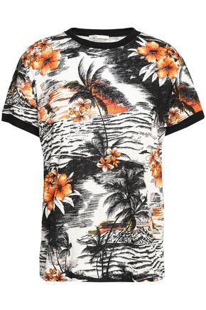 MAJE Printed slub-jersey top