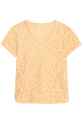 MAJE Devoré-velvet cotton-blend top