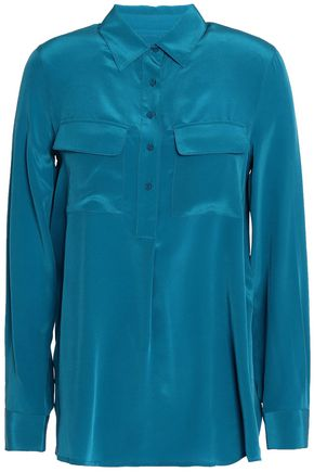 MAJE Silk-charmeuse shirt