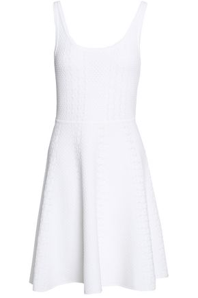CLAUDIE PIERLOT Flared crochet-knit dress