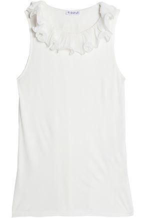 CLAUDIE PIERLOT Ruffle-trimmed jersey T-shirt
