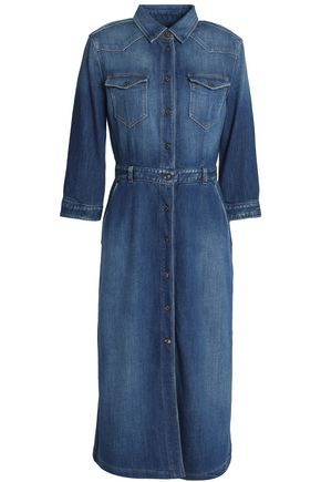 7 FOR ALL MANKIND Stretch-denim midi dress