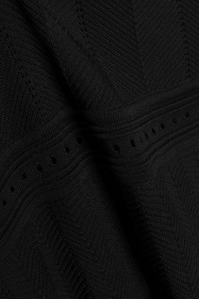 CLAUDIE PIERLOT Scalloped jacquard-knit dress
