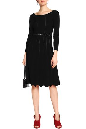 Scalloped Jacquard Knit Dress by Claudie Pierlot