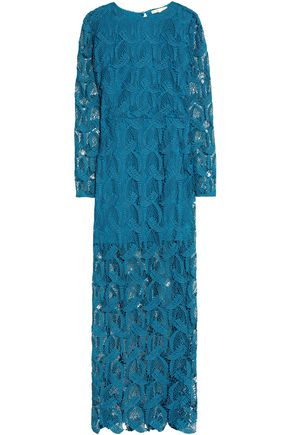 MAJE Cutout guipure lace maxi dress