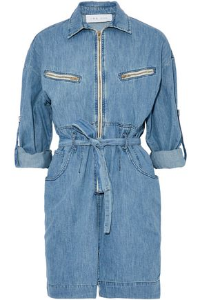 IRO Phibie belted denim mini dress