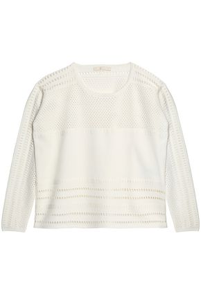 MAJE Pointelle-knit sweater