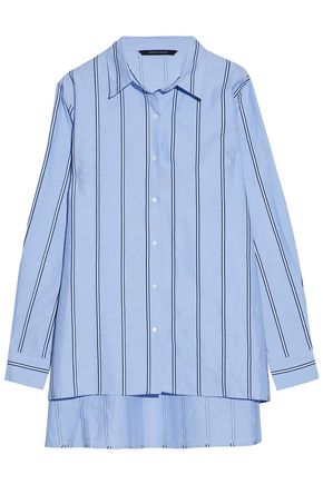 W118 by WALTER BAKER Striped cotton-poplin shirt