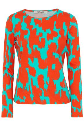 DIANE VON FURSTENBERG Printed cotton top
