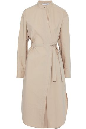 T by ALEXANDER WANG Cotton-poplin wrap dress