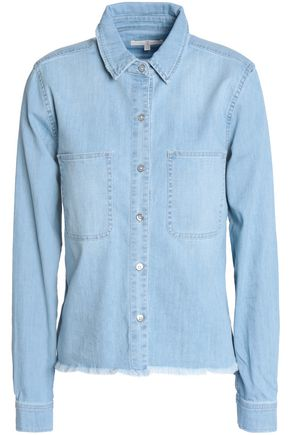7 FOR ALL MANKIND Frayed denim top
