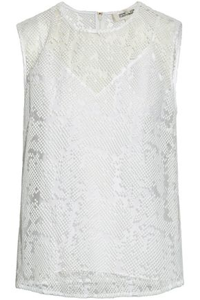 DIANE VON FURSTENBERG Embroidered tulle top