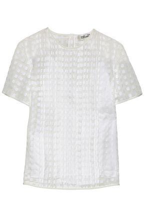DIANE VON FURSTENBERG Pleated fil coupé blouse