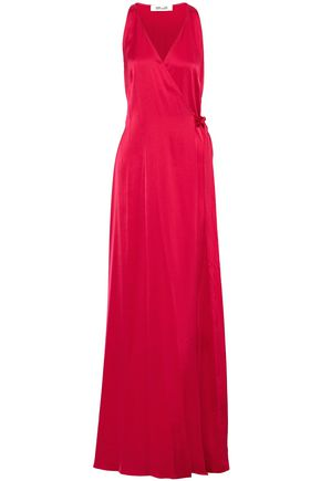 DIANE VON FURSTENBERG Satin wrap gown