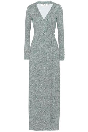 DIANE VON FURSTENBERG Printed silk-jersey wrap maxi dress