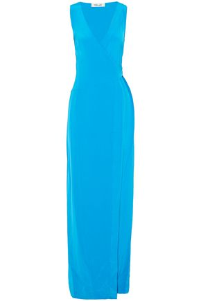 DIANE VON FURSTENBERG Wrap-effect silk-satin gown