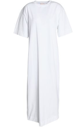 MARNI Stretch-cotton jersey midi dress