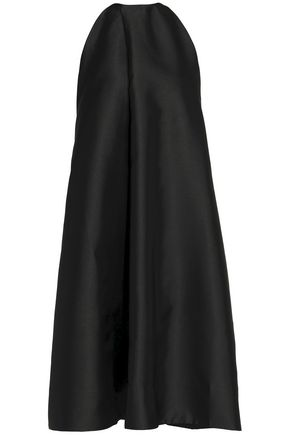 SOLACE LONDON Satin-faille halterneck midi dress