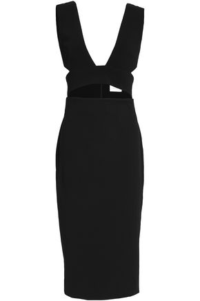 SOLACE LONDON Cutout crepe dress
