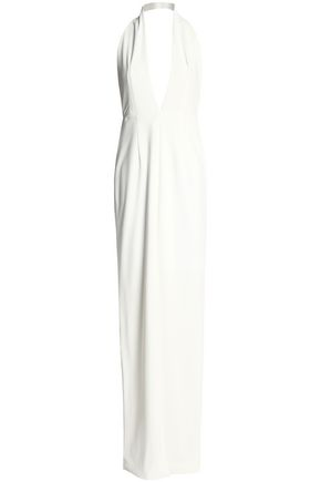 SOLACE LONDON Ponte halterneck gown