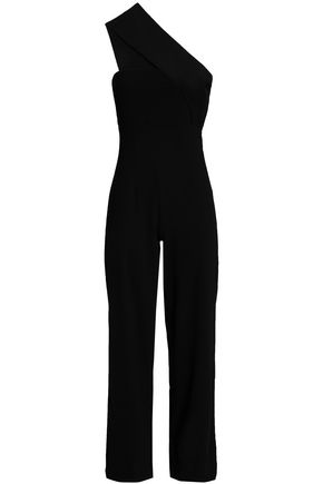 SOLACE LONDON One-shoulder crepe jumpsuit