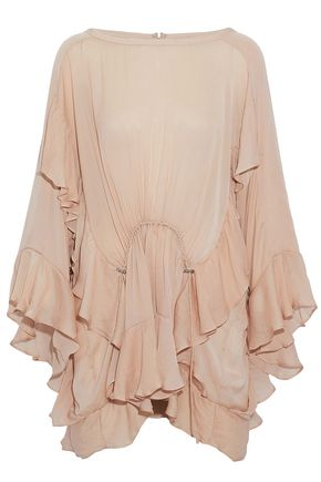 IRO Ruffled crepe de chine top