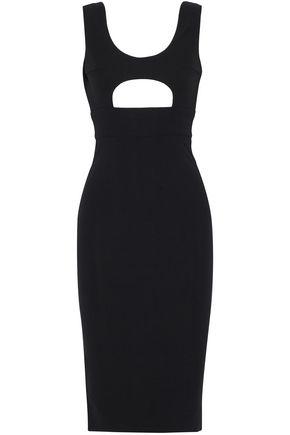 SOLACE LONDON Minnelli cutout stretch-crepe dress