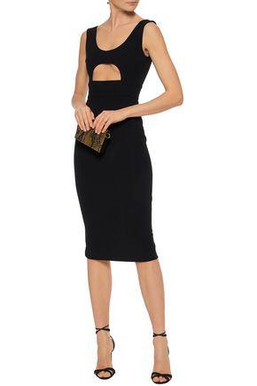 Minnelli Cutout Stretch Crepe Dress by Solace London