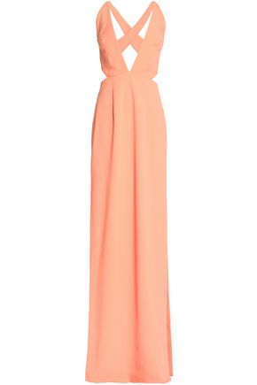 SOLACE LONDON Cutout crepe gown