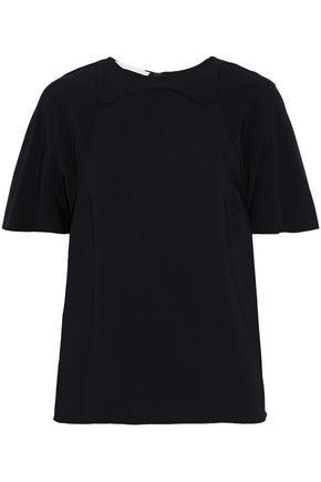 ANTONIO BERARDI Layered draped crepe top