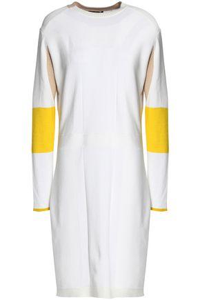 BELSTAFF Color-block stretch-knit mini dress
