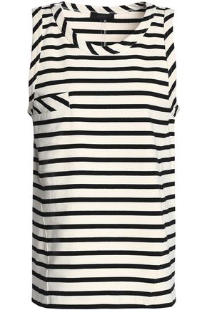 BELSTAFF Striped cotton-jersey top