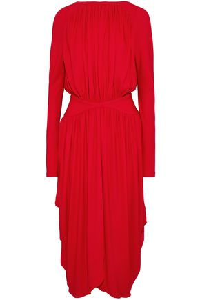 ANTONIO BERARDI Gathered crepe midi dress