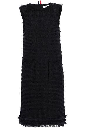 THOM BROWNE Frayed cotton-blend bouclé dress